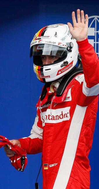 Vettel comemorou o desempenho e indicou otimismo - Foto: Olivia Harris Livepic   Agência Reuters