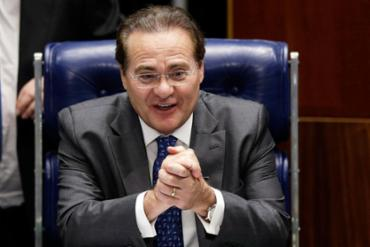 Renan Calheiros na cadeira de presidente do Senado - Foto: Agência Reuters