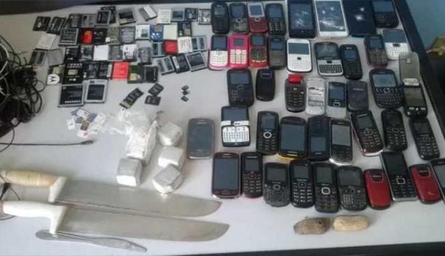 Produtos foram encontrados nas celas dos detentos - Foto: Divulgação | Polícia Militar