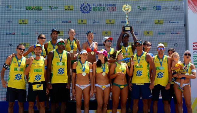 Medalhas dão vantagem para as duplas brasileiras - Foto: Divulgação | CBV