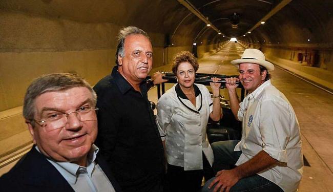 Presidente Dilma Rousseff durante inauguração do Túnel Rio 450 - Foto: Roberto Stuckert Filho | Agência Brasil