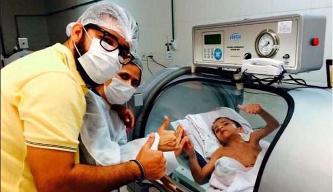 Pai dos gêmeos mostra recuperação de Heitor - Foto: Reprodução   Facebook
