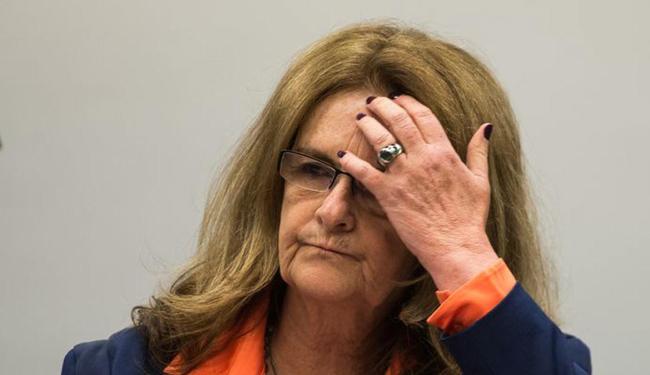 A ex-presidenta da Petrobras durante depoimento na CPI da Câmara que investiga a estatal - Foto: Marcelo Camargo l Agência Brasil