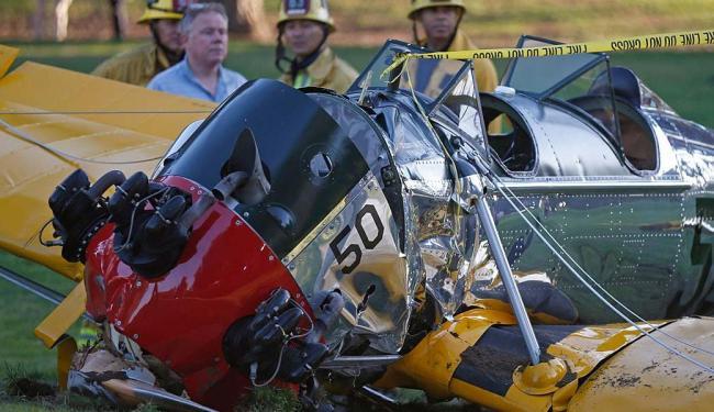 'Bico' do avião ficou destruído com o impacto - Foto: Lucy Nicholson   Ag. Reuters