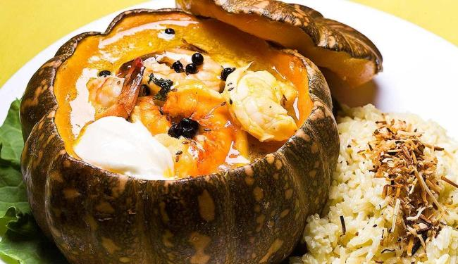 Prato Jerimum Frevo mistura ingredientes como camarão e lagosta - Foto: Dante Barros | Divulgação