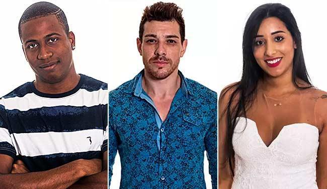 Luan, Cézar e Talita disputam a permanência no reality show - Foto: TV Globo | Divulgação