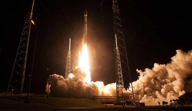 Lançamento da missão, que terá dois anos de duração, foi feito da Base de Cabo Canaveral, na Flórida - Foto: Aubrey Gemignani   Agência Reuters