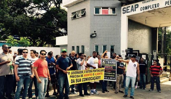 As visitas e recebimento de presos estão suspensas por conta da paralisação - Foto: Luciano da Matta | Ag. A TARDE