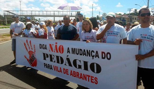 Moradores reclamam de projeto que prevê desmembramento do pedágio para outro local - Foto: Patrícia Oliveira | Cidadão Repórter