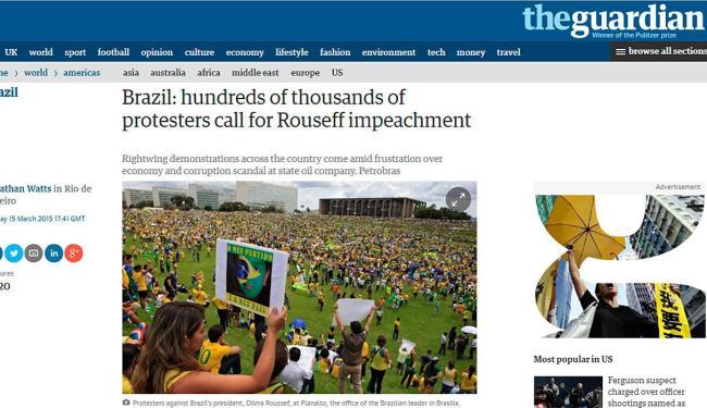 The Guardian traz reportagem sobre as manifestações - Foto: Reprodução