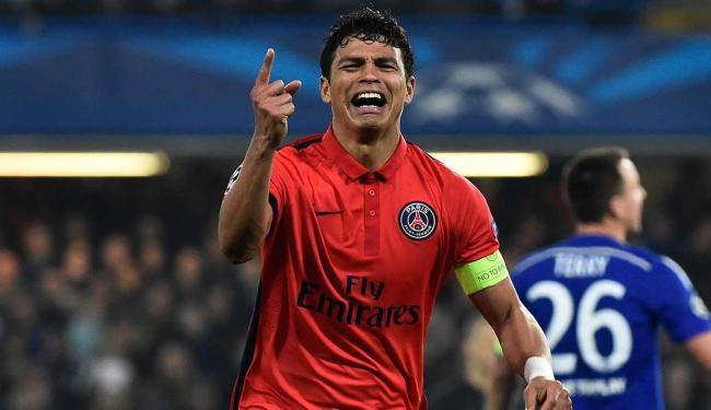 Thiago Silva fez o gol que classificou o PSG - Foto: Toby Melville | Reuters