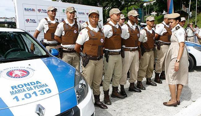 Grupo especial da Polícia Militar baiana (Ronda Maria da Penha) foi apresentado domingo passado - Foto: Marco Aurélio Martins   Ag. A TARDE