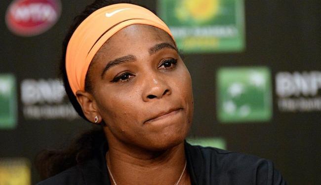 Serena sentiu uma dor forte no joelho durante o treino e resolveu não competir em Indian Wells - Foto: Ag. Reuters