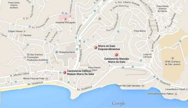Motoristas devem usar o acesso ao Morro do Gato para fugir do trânsito lento - Foto: Reprodução   Google Maps
