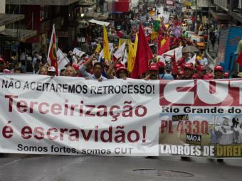 Terceirização mobiliza trabalhadores para 1º de maio - Foto: José Carlos Daves/ Futura Press
