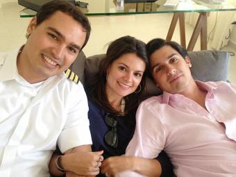 Thomaz Alckmin, à esquerda, e os irmãos Sophia e Geraldo - Foto: Reprodução | Facebook | geraldoalckmin