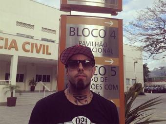 O cantor compareceu à Policia Civil para fazer boletim de ocorrência - Foto: Reprodução   Facebook