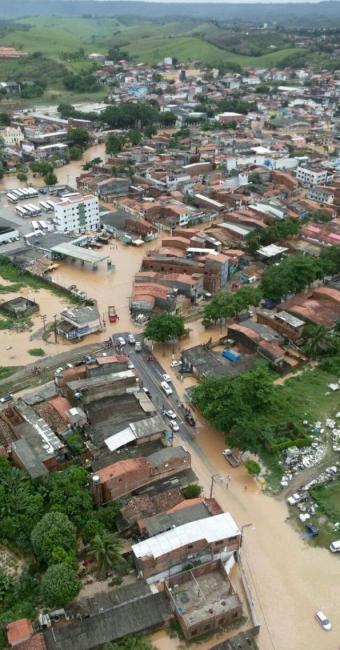 Imagem feita pelo Graer no sobrevoo realizado pelo município - Foto: Divulação | PMBA/Graer