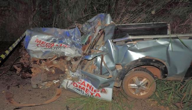 Corpo do mecânico ficou preso nas ferragens - Foto: Reprodução   Blog Sigi Valadares