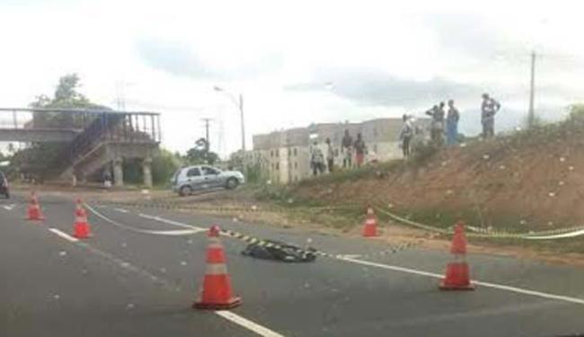 O motorista fugiu sem prestar socorro - Foto: Foto do Leitor Rubem I Cidadão Repórter