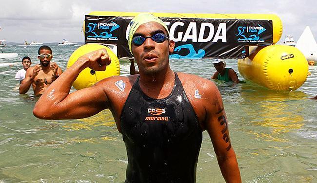 O maratonista aquático Allan do Carmo tem Bolsa Pódio, Faz Atleta e patrocínios via confederação - Foto: Eduardo Martins | Ag. A TARDE