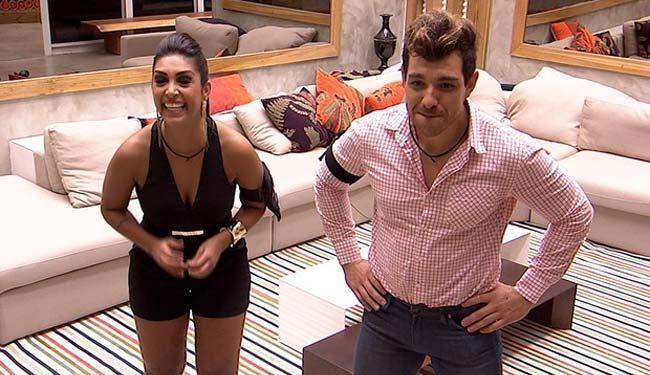 Amanda e Cézar na expectativa pela grande final - Foto: Reprodução | GShow | TV Globo