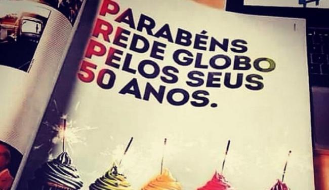 Em revista, SBT parabeniza à Rede Globo pelos 50 anos - Foto:   Divulgação
