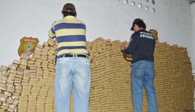 Essa foi uma das maiores apreensões de droga feita pela PF em Feira - Foto: Ed Santos | Site Acorda Cidade
