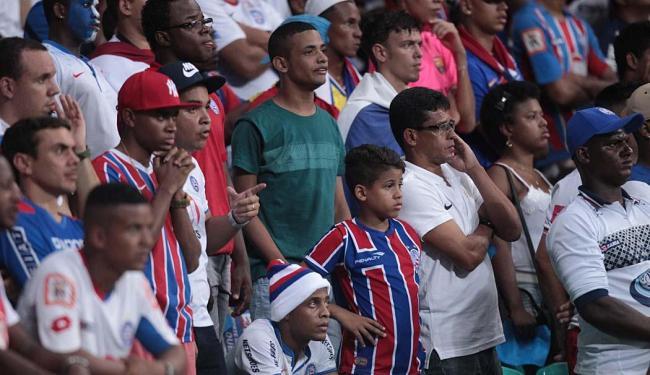 Torcida se calou diante de gol do Ceará - Foto: Lúcio Távora | Ag. A TARDE