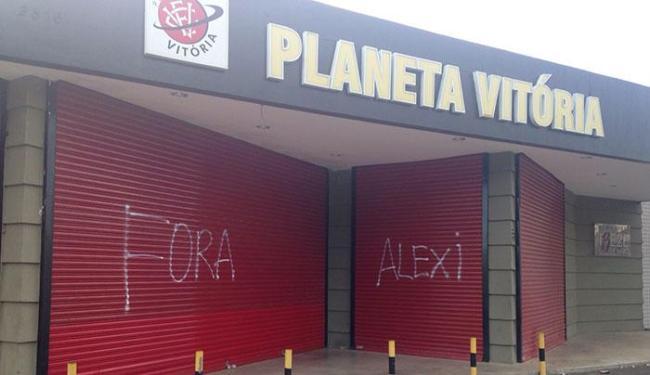 Alexi Portela, presidente do Conselho Fiscal do Leão, foi alvo de protesto - Foto: Glauber Guerra | Divulgação