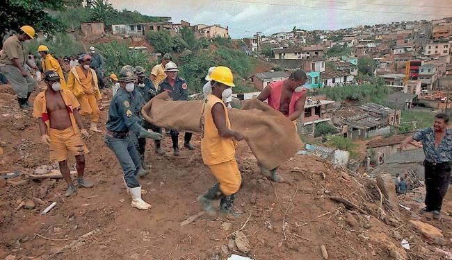 Em abril de 1996, 22 pessoas morreram no Barro Branco - Foto: Antônio Saturnino | Ag. A TARDE | 24.04.1996