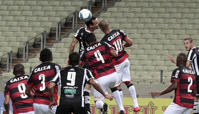 Pressionado pelo Ceará, o Leão segurou o empate - Foto: LC Moreira l Futura Press l Folhapress