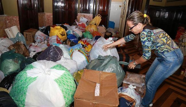 As doações podem ser feitas na sede do jornal A TARDE e em pontos como a sede da VSBA (foto) - Foto: Joá Souza   Ag. A TARDE