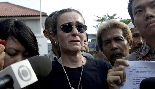 Prima de Rodrigo, Angelita Muxfeldt visitou o brasileiro nesta terça - Foto: Tatan Syuflana | AP Photo