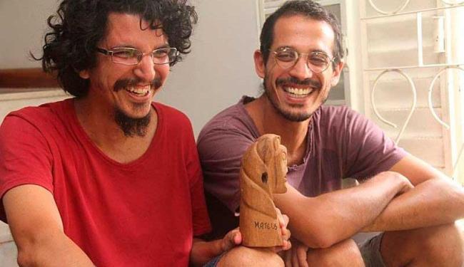 Marcelo Matos de Oliveira e Wallace Nogueira, diretores do curta