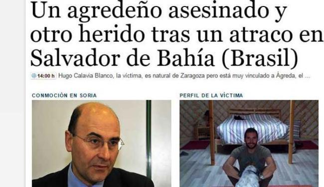 Cidade repudia morte de turista espanhol em Salvador - Foto: Reprodução | Diário de Sória