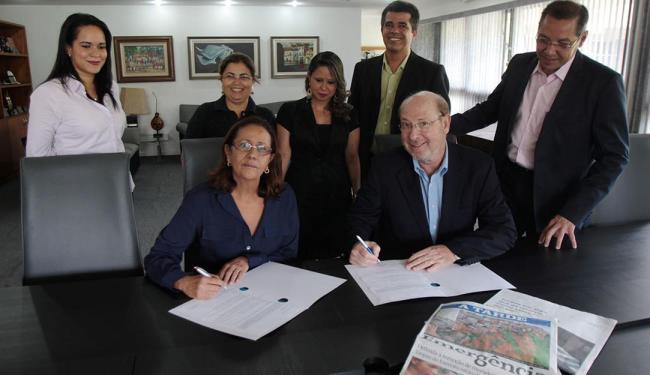 Diretores do Oficina e de A TARDE assinaram acordo - Foto: Luciano da Matta | Ag. A TARDE