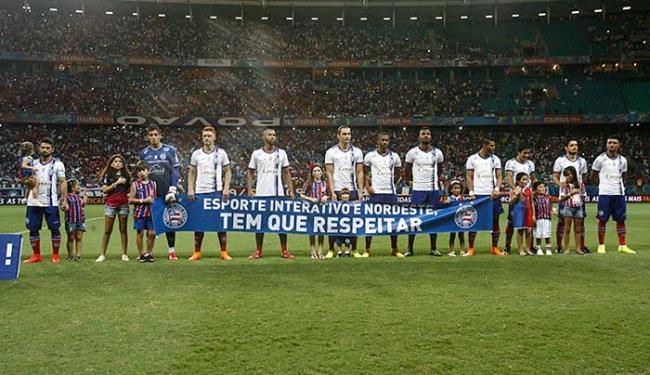 Equipe tricolor tem mais 90 minutos para buscar o resultado e garantir o tri do Nordestão - Foto: Fernando Amorim | Ag. A TARDE