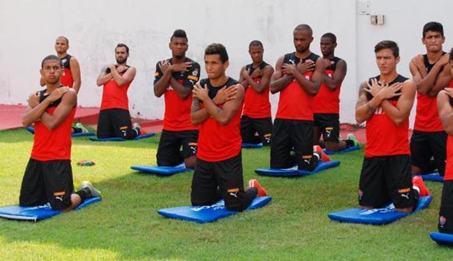Leão faz treino tático e de bola parada antes do duelo contra o Ceará pelo Nordestão - Foto: Reprodução | EC Vitória