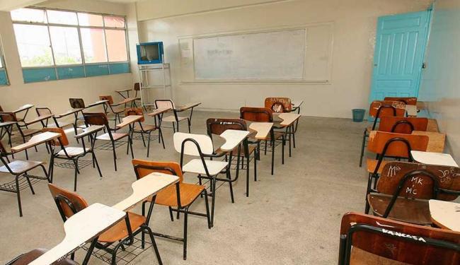 Aulas foram suspensas em algumas escolas municipais por conta da chuva - Foto: Joá Souza   Ag. A TARDE