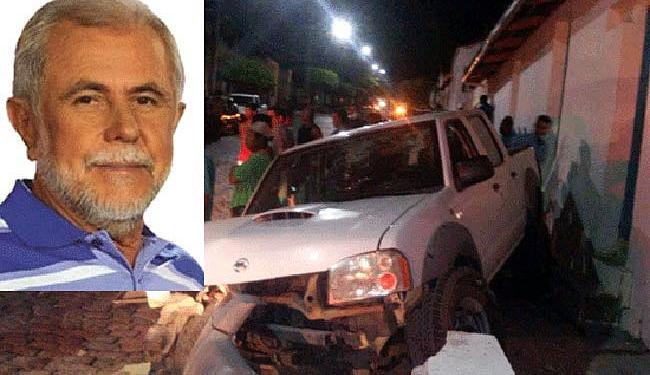 O prefeito foi atingido enquanto dirigia - Foto: Reprodução | euclidesemdestaque.com