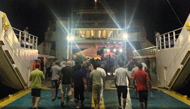 Convidados chegam para festa no ferry Zumbi dos Palmares - Foto: Reprodução | Instagram