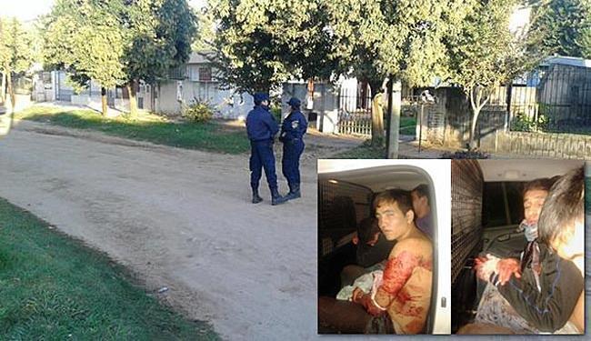 No destaque, os bandidos que ficaram bastante feridos depois dos golpes de espada - Foto: Reprodução | Facebook e Twitter @MWernher