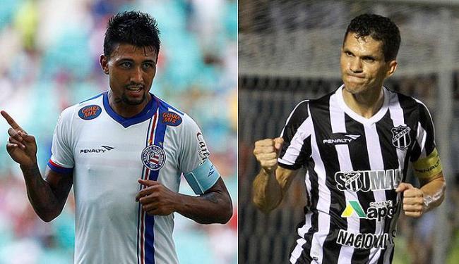 Kieza é a esperança de gols do Tricolor; Magno Alves é o principal destaque do Vovô - Foto: Eduardo Martins | Ag. A TARDE e Christian Alekson l Cearasc.com