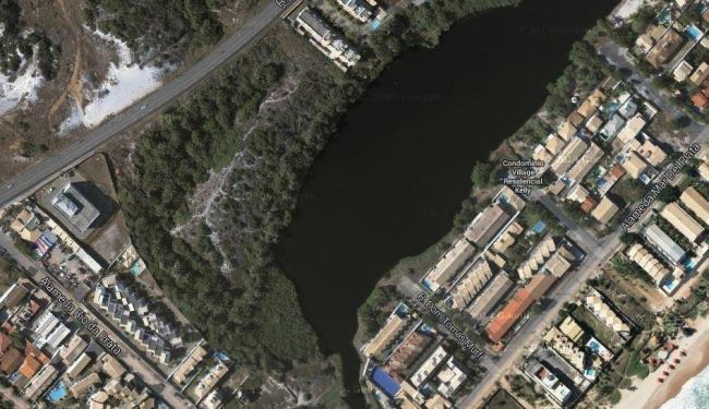 Vista de satélite da lagoa - Foto: Reprodução   Google Maps