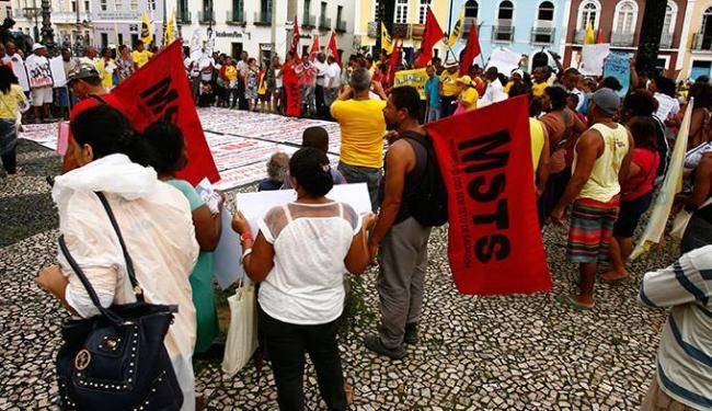 Do Terreiro, os manifestantes seguiram para realizar um ato em frente à sede da Conder - Foto: Luciano da Matta   Ag. A TARDE