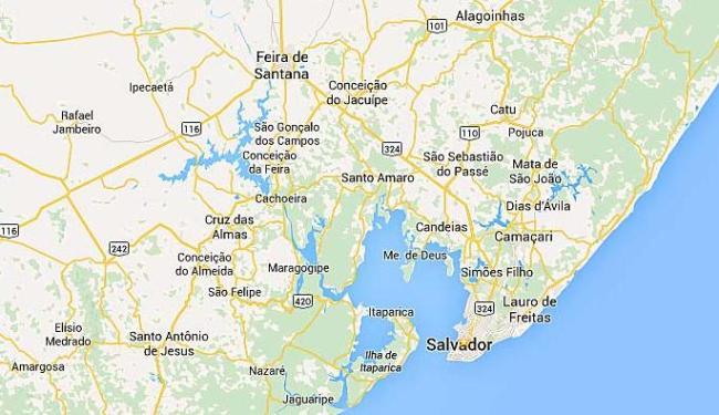 População deixa a capital para aproveitar o feriado de Páscoa no interior do Estado - Foto: Reprodução | Google Maps