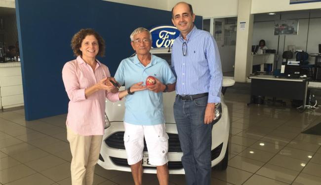 Japonês que mora em Salvador há 40 anos ganha um New Fiesta 0 km - Foto: Divulgação