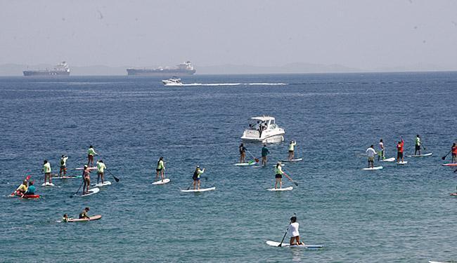 Etapa no Porto da Barra é válida pelo baiano e nordestino de SUP race e paddleboard - Foto: Fernando Amorim | Ag. A TARDE