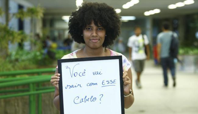 Francine Carvalho, 22,costuma ouvir sempre essa pergunta antes de sair de casa - Foto: Fernando Vivas | Ag. A TARDE
